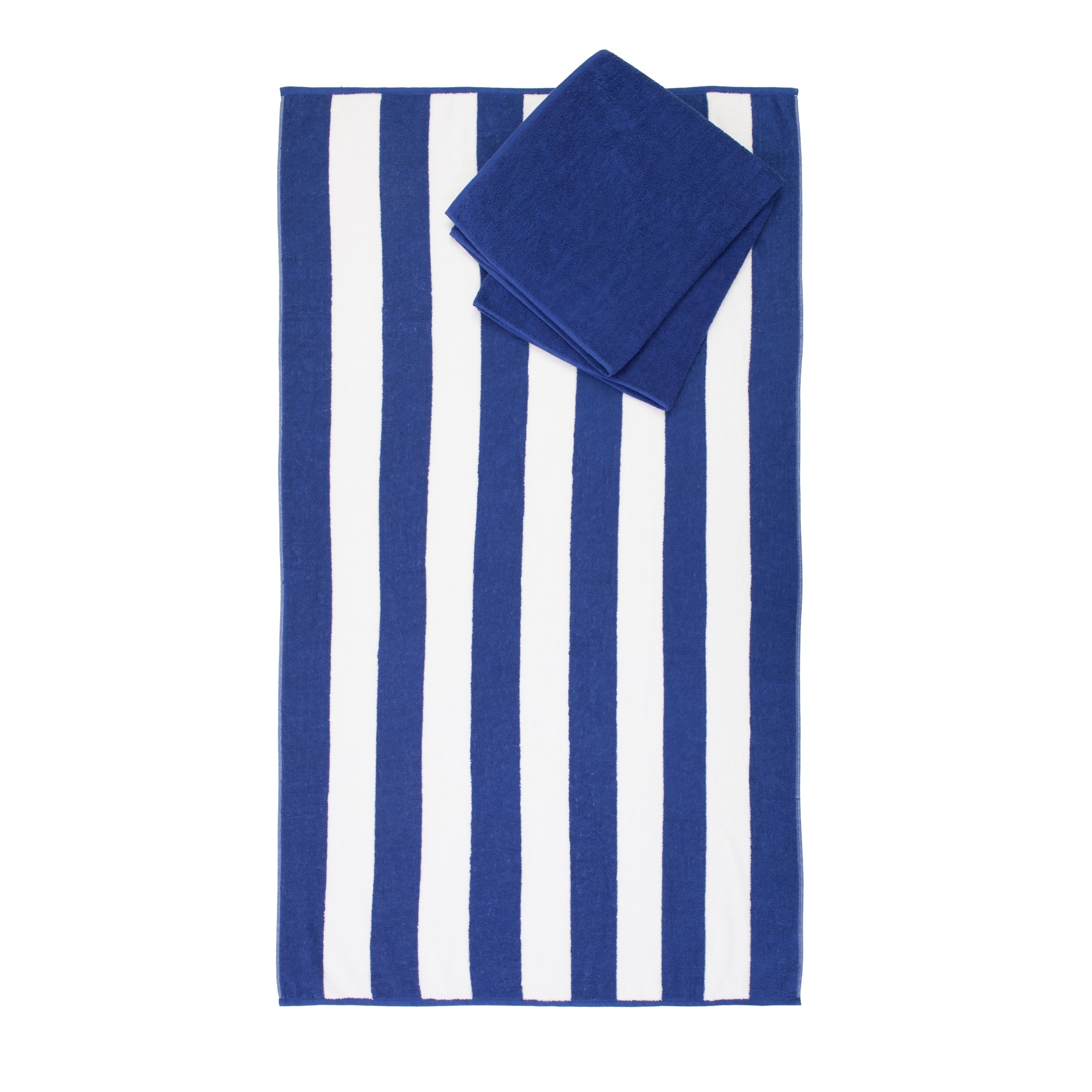 Savannah 2 Piece Beach Towel Set in Navy