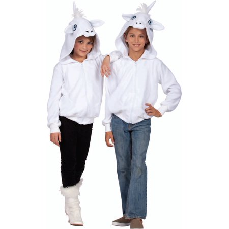 Una The White Unicorn Child Hoodie Costume (Unicorn Child Costume)