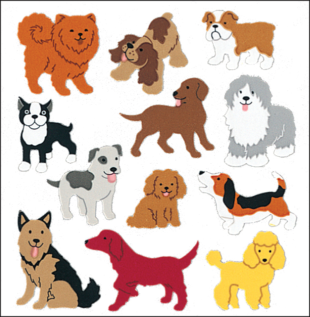 SandyLion Classpak Stickers 3/Pkg-Dogs