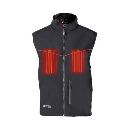 Venture 12v Heated Vest (Venture 12V Hybrid Soft Shell Heated Vest (Black, XX-Large))