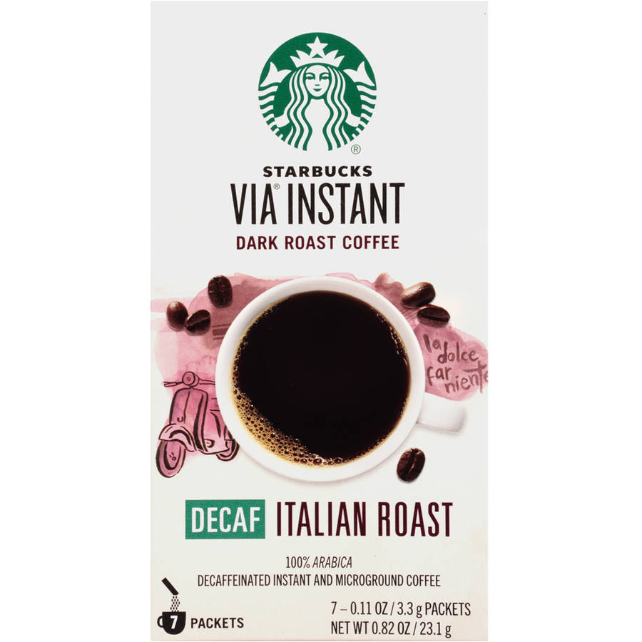 Starbucks VIA Decaf Italian Roast Coffee 7ct