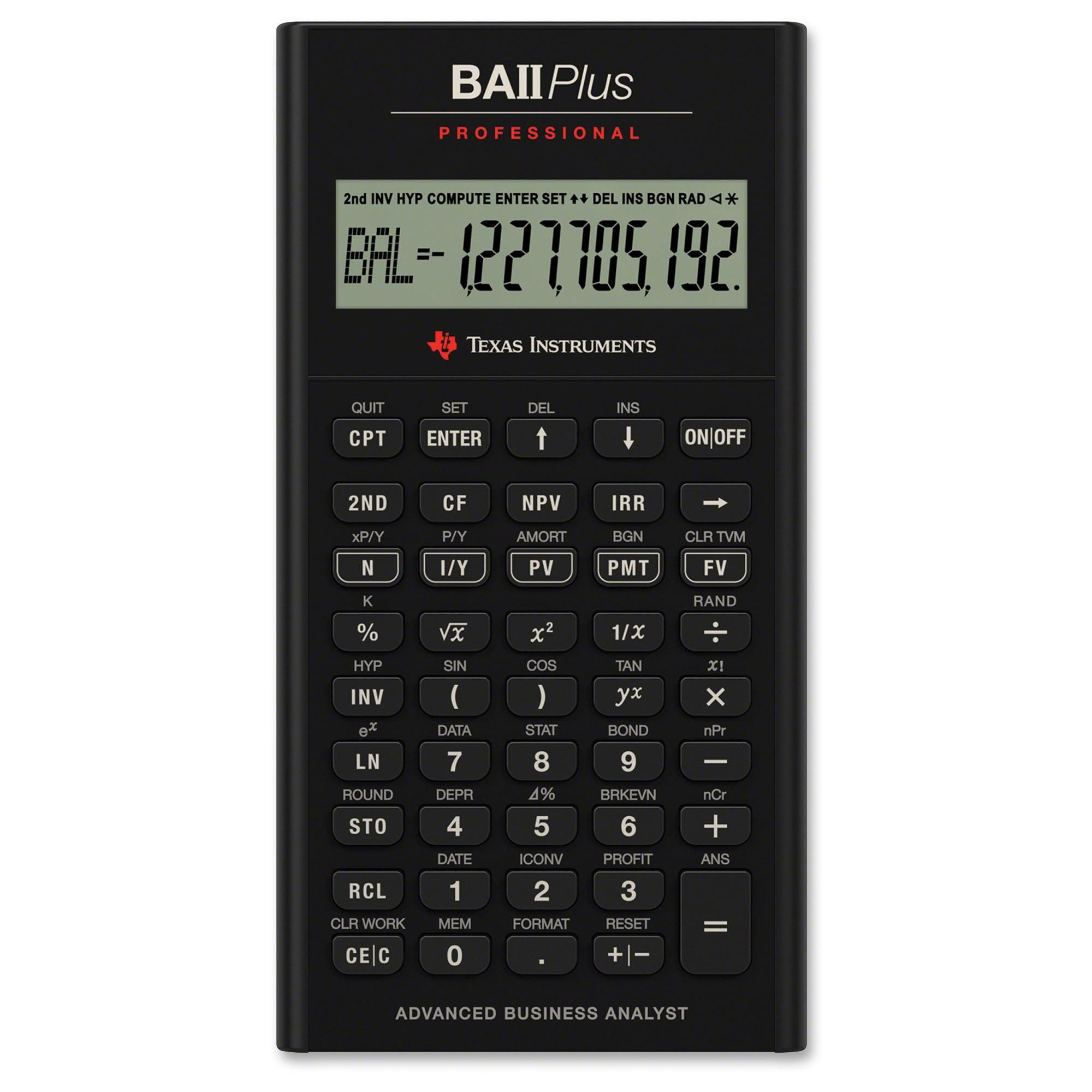 Texas Instruments BA II Plus Professional Calculator