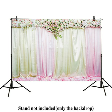 HelloDecor Polyster 7x5ft photography backdrops wedding decoration party Flower wall curtains Bridal shower Birthday banner photo studio booth background photocall - Bridal Shower Background