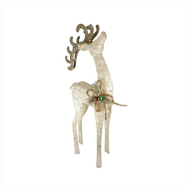 "8/"" Metal Set of 4 Christmas Colorful Festive Sisal Tree Decorations ea"
