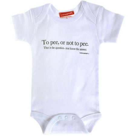 Silly Souls Newborn Baby Boy or Girl Unisex To Pee or Not To Pee Bodysuit