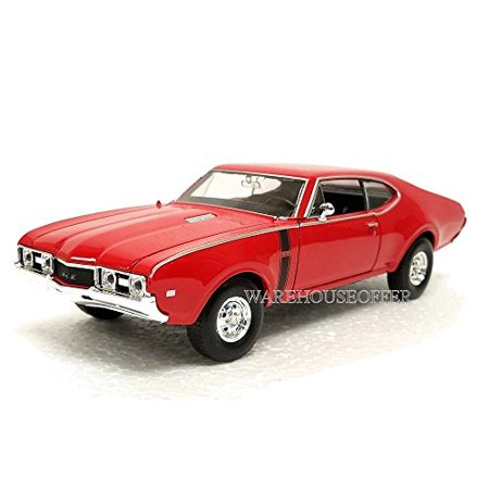 NEW 1:24 DISPLAY WELLY COLLECTION - RED 1968 OLDSMOBILE 442 Diecast Model Car By Welly