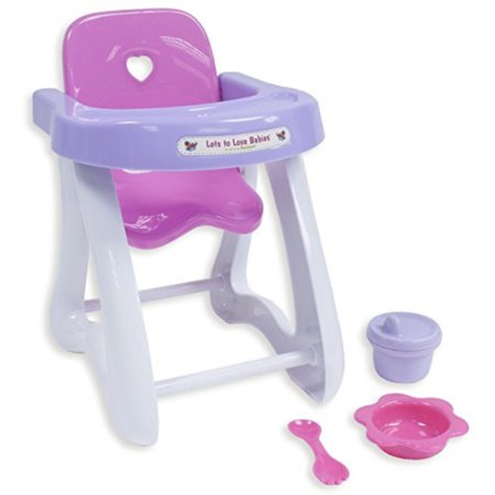 Astounding Jc Toys 4 Piece Small Baby Doll Highchair Gift Set Fits Small Dolls Up To 11 Dolls Ages 2 Designed By Berenguer Ibusinesslaw Wood Chair Design Ideas Ibusinesslaworg