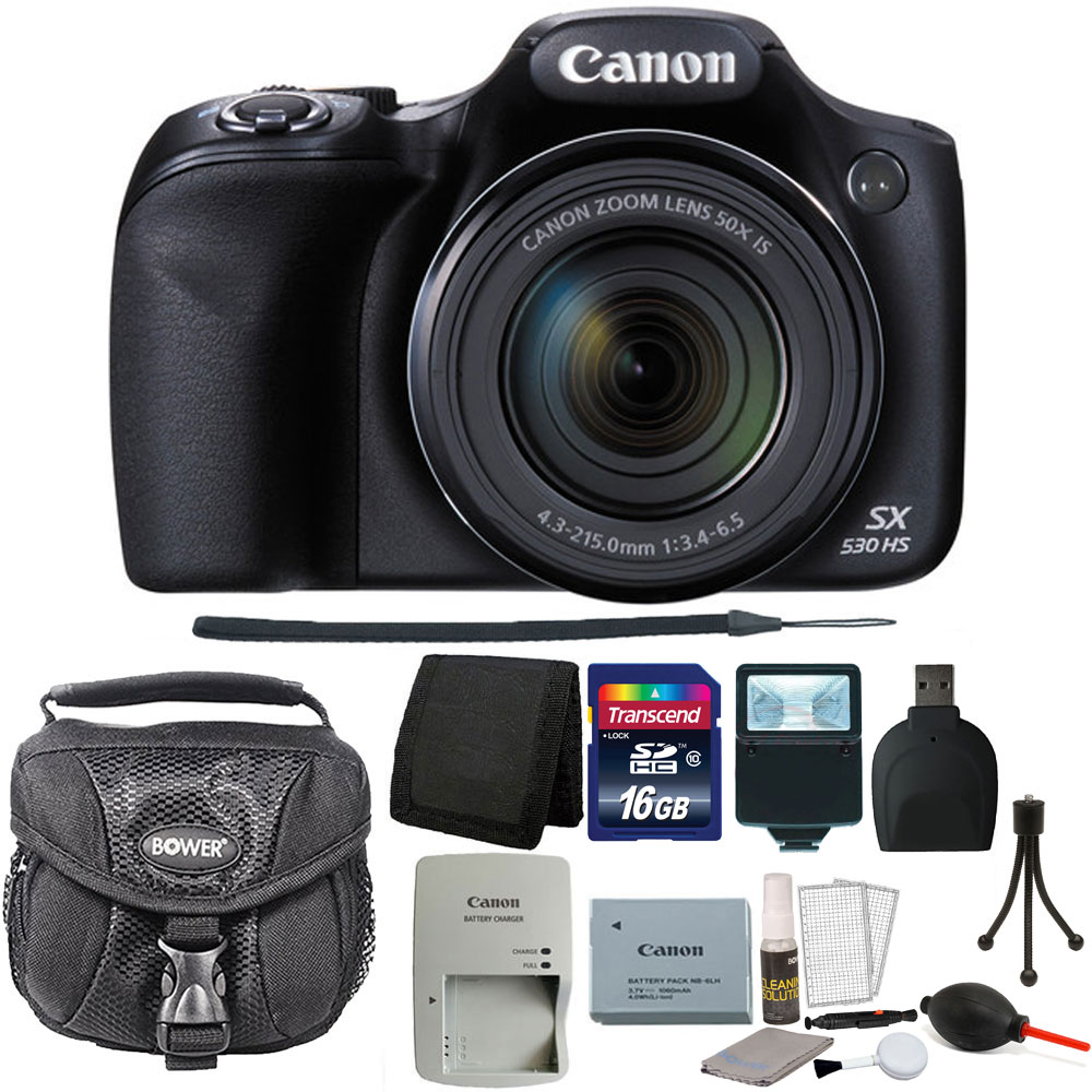 Canon PowerShot SX530 HS 16MP Wi-Fi Digital Camera (Black...