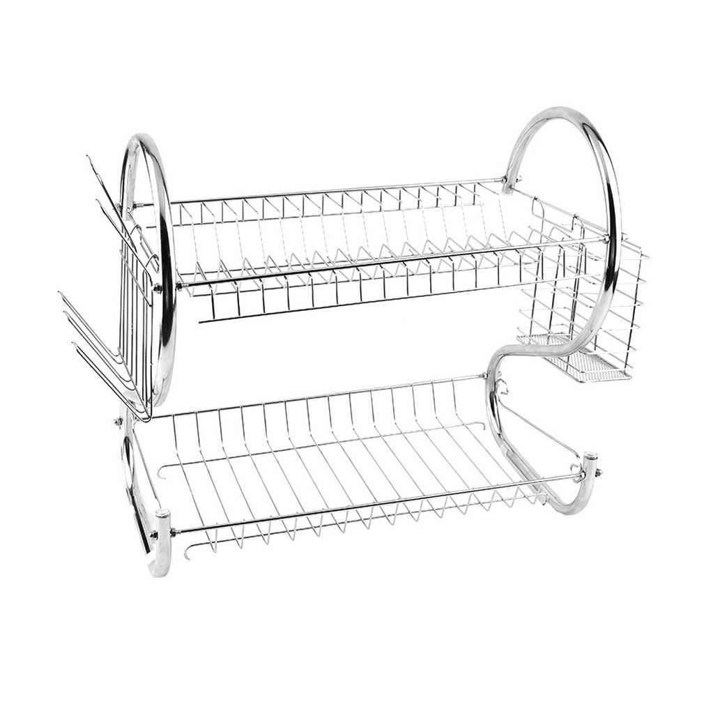 HJY 2 Tier Universal Home Kitchen Organizer Chrome Plate Dish Cup Cutlery Drainer Rack Drip Tray  sc 1 st  Walmart & HJY 2 Tier Universal Home Kitchen Organizer Chrome Plate Dish Cup ...