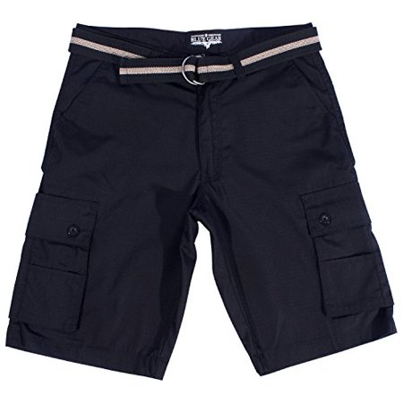 11ecbf1ae2 Blue-Gear, Inc. - Blue Gear Men's Ripstop Cargo Shorts Big & Tall Size 32 -  50 Cell Phone Pocket Short (Black,36) - Walmart.com