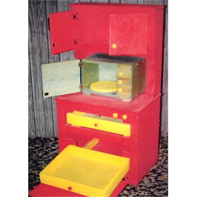 THE PUZZLE-MAN TOYS W-2104 Wooden Play Furniture - Kitchen Cupboard With Dishwasher