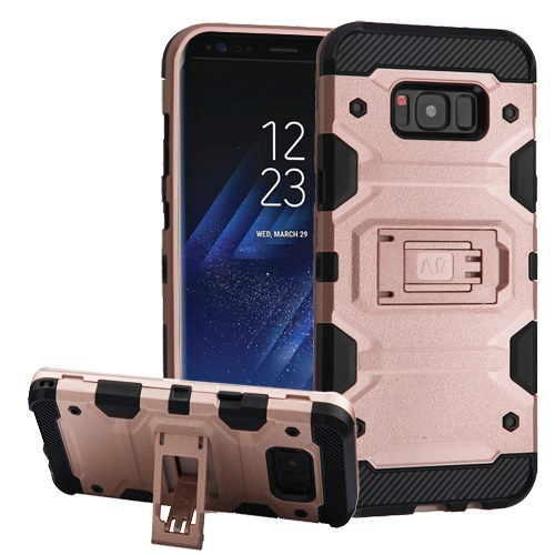 MUNDAZE Rose Gold Defense Double Layered Case For Samsung Galaxy S8 Phone