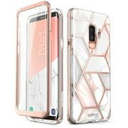 Samsung Galaxy S9 Plus Case, [Built-in Screen Protector] i-Blason [Cosmo] Full-Body Glitter Clear Bumper Case for Galaxy S9 Plus (2018 Release) (Marble)