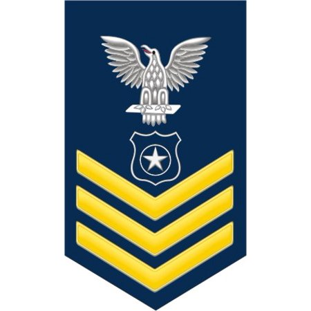 3.8 Inch Navy Gold E-6 Master At Arms MA Decal Sticker