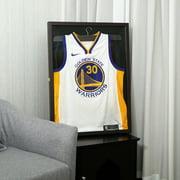 Jaxpety Wall Mounted Jersey Display Case Memories Box Frame Baseball Basketball Brown