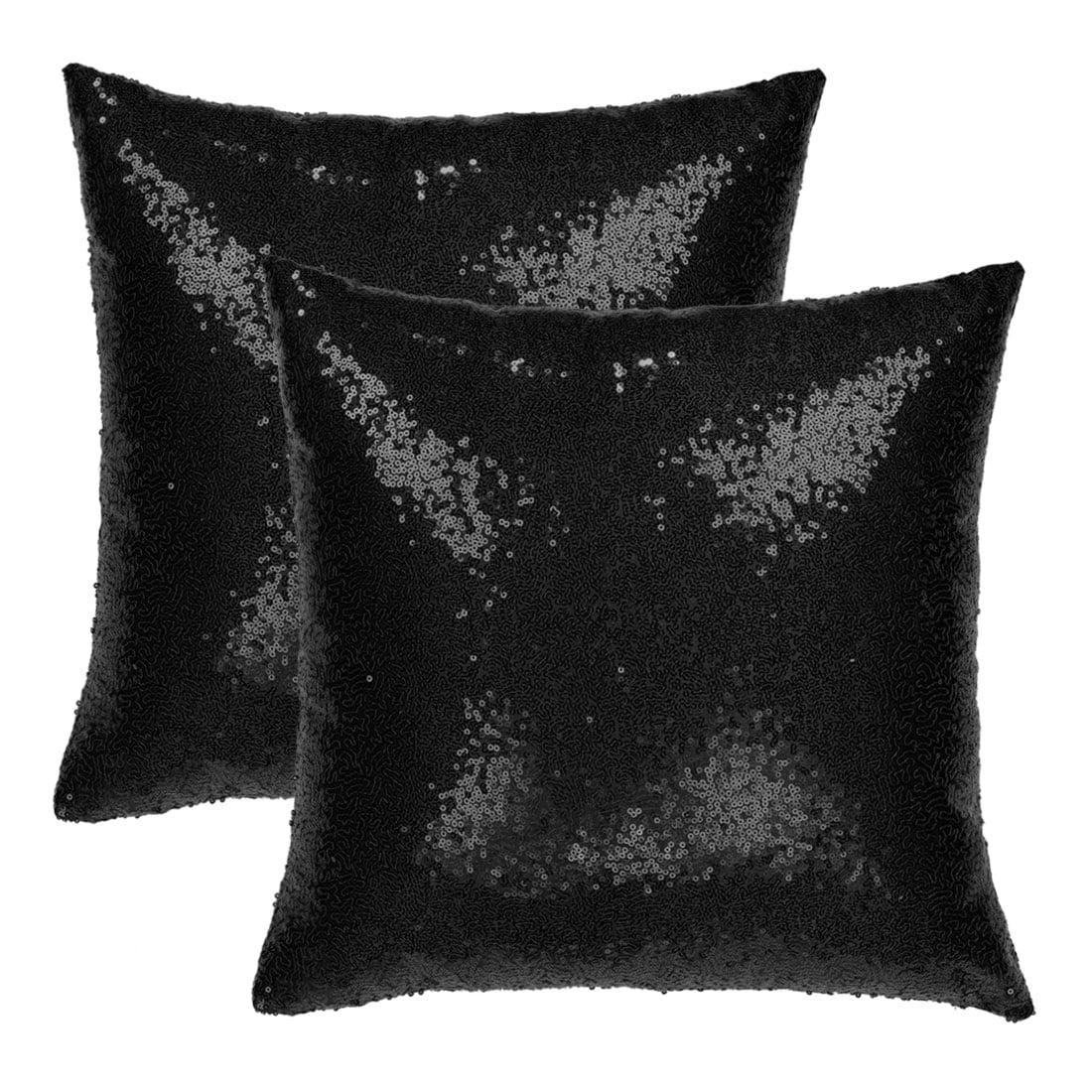 Decorative Square Shiny Sparkling Comfy Sequin Throw Pillow Cover Sofa Couch