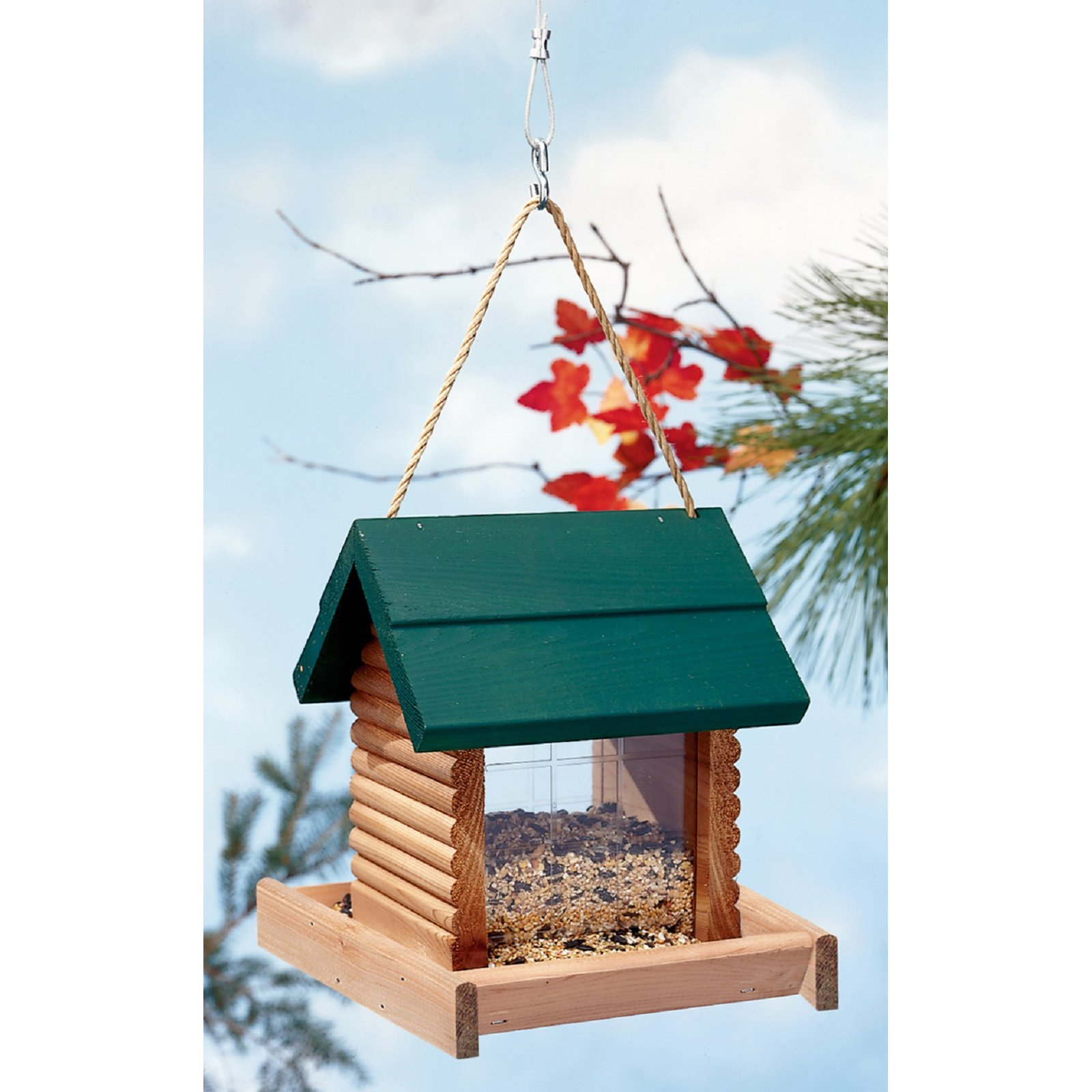 North States Log Cabin Bird Feeder