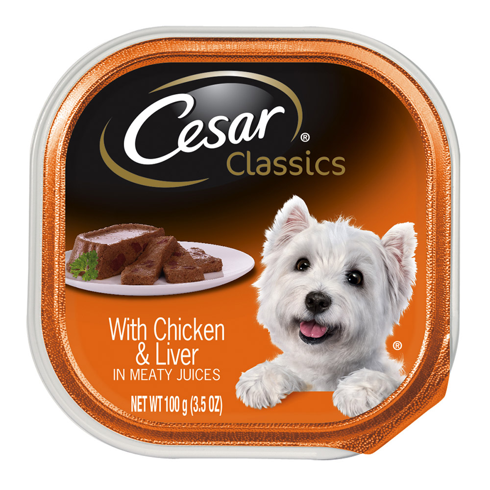 CESAR Canine Cuisine With Chicken and Liver Dog Food Trays 3.5 Ounces (Pack of 24)