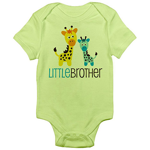 Cafepress Little Brother Giraffe Newborn Baby Bodysuit