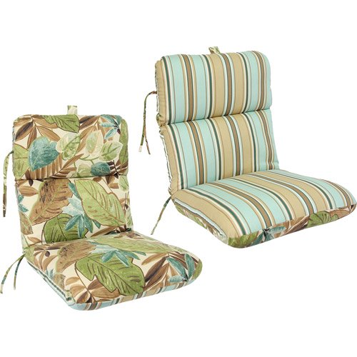 Reversible Deluxe Outdoor Chair Cushion Multiple Colors Walmart Com