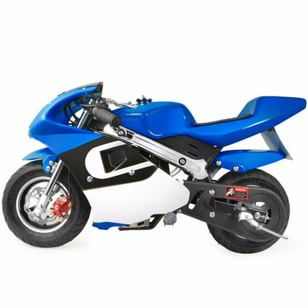 XtremepowerUS Gas Pocket Bike Motorcycle 40cc 4-stroke Engine, Blue ()