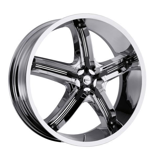 Milanni 459 Bel-Air 5 18x7.5 5x112/5x114.3 +38mm Chrome/Black Wheel Rim