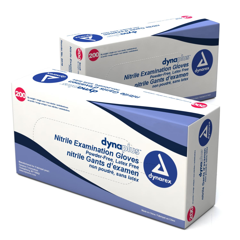 Dynarex Nitrile Exam Glove (non-latex) Powder Free (econo...