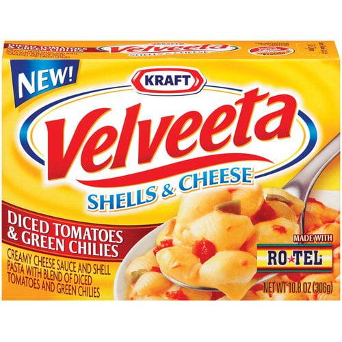 Kraft Velveeta Shells & Cheese With Rotel Diced Tomatoes & Green Chilies, 10.8 oz