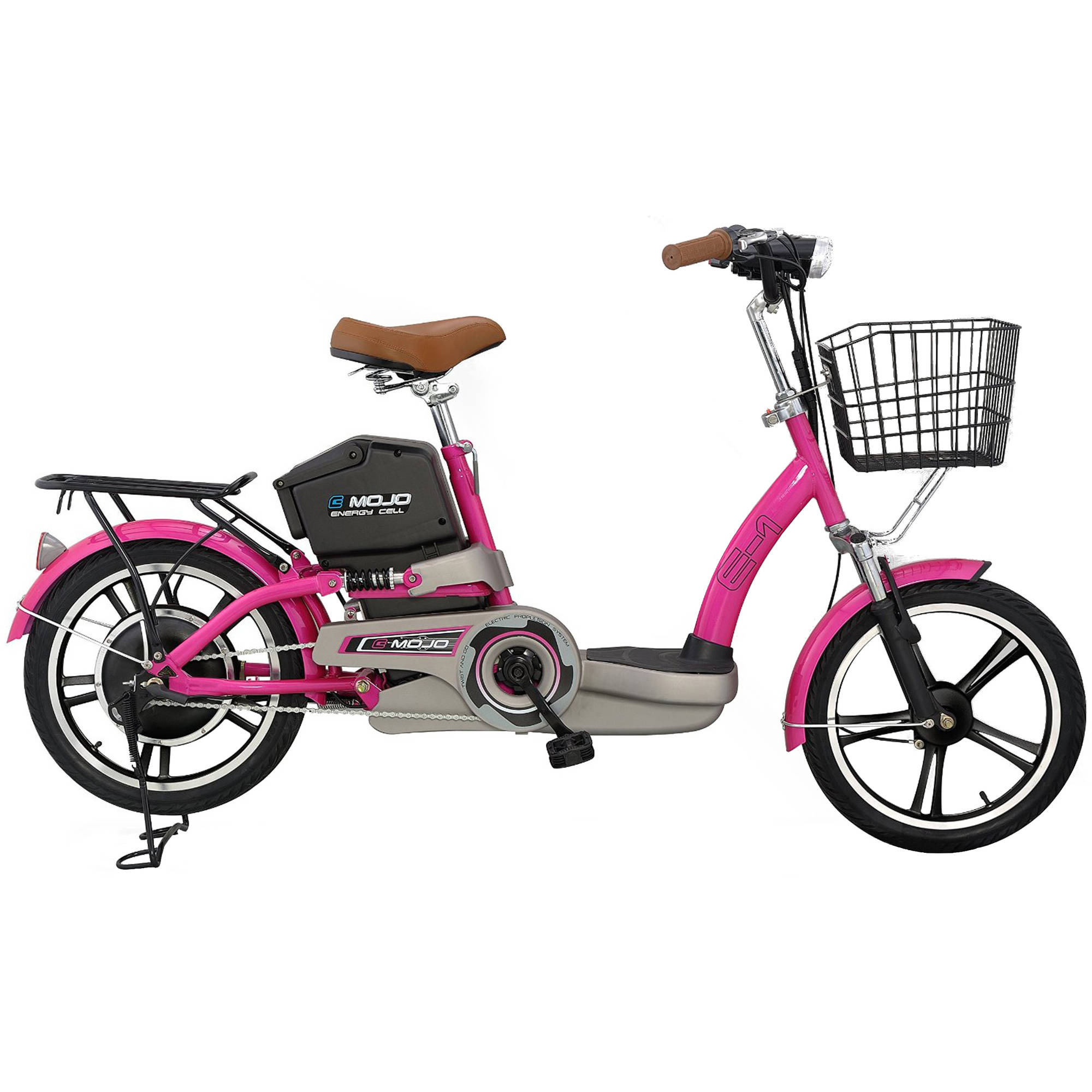 E1 Electric Bike with Lithium Battery, Lava Pink