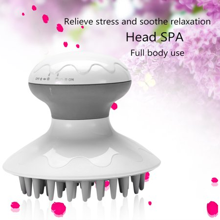 Electric Head Massager Anti-Static Scalp Relaxation Stress Relief Hair Scrubber Brush,Anti-Static Massage Comb,Scalp