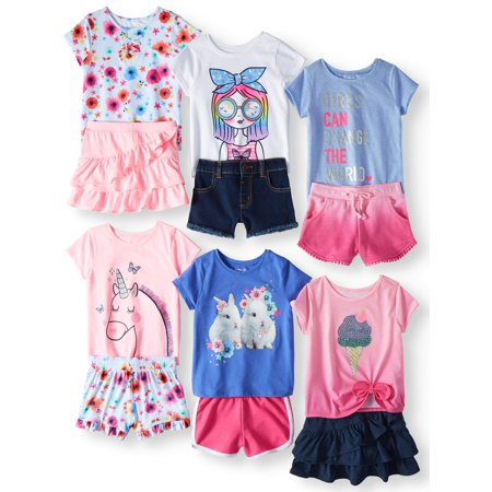 Mix & Match Outfits Kid-Pack Gift Box, 12pc Set (Toddler Girls)