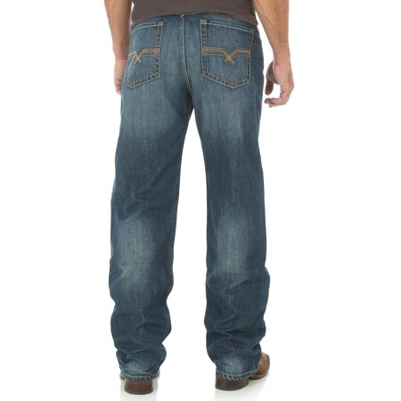 Indigo Striped Jeans - Wrangler Men's 20X Indigo No.33 Extreme Relaxed Fit Jeans Straight Leg - 33Mwxwl