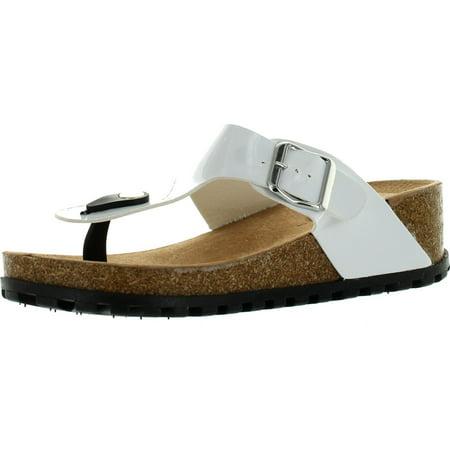 Wild Diva Lounge Womens Cherie-01 Comfort Footbed Fashion Flip Flop Sandals