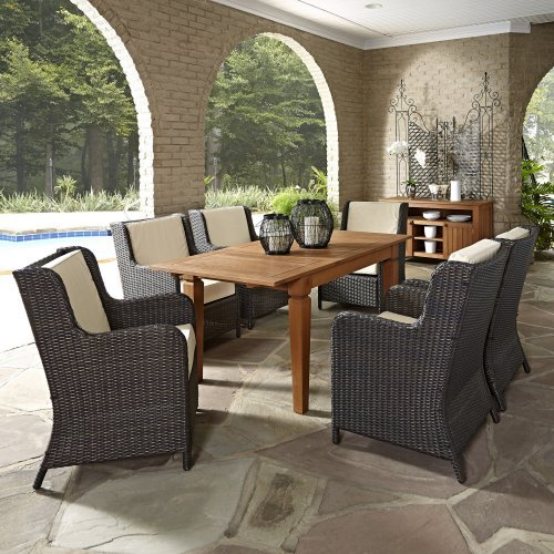 Home Styles Bali Hai 7 Piece Outdoor Dining Set with Buffet