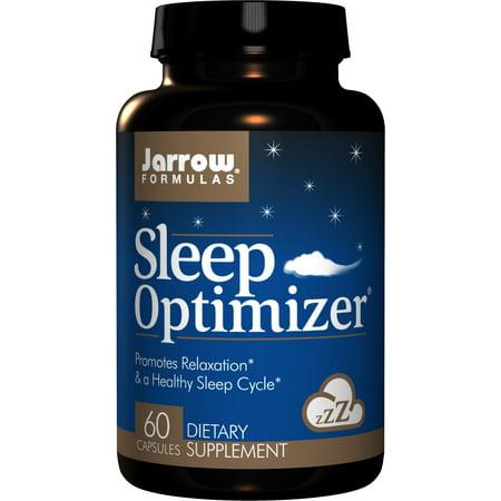 Jarrow Formulas Sleep Optimizer, Promotes Relaxation & a Healthy Sleep Cycle, 60 Caps