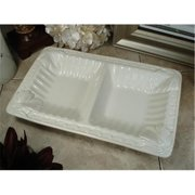 DLusso Designs B3106 Couture Line Ceramic 2 Section Dish, Pack Of - 3.