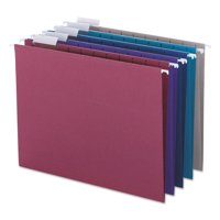 Smead Designer Assortment Hanging Folders, 1/5 Tab, 11 Point Stock, Letter, 25/Box