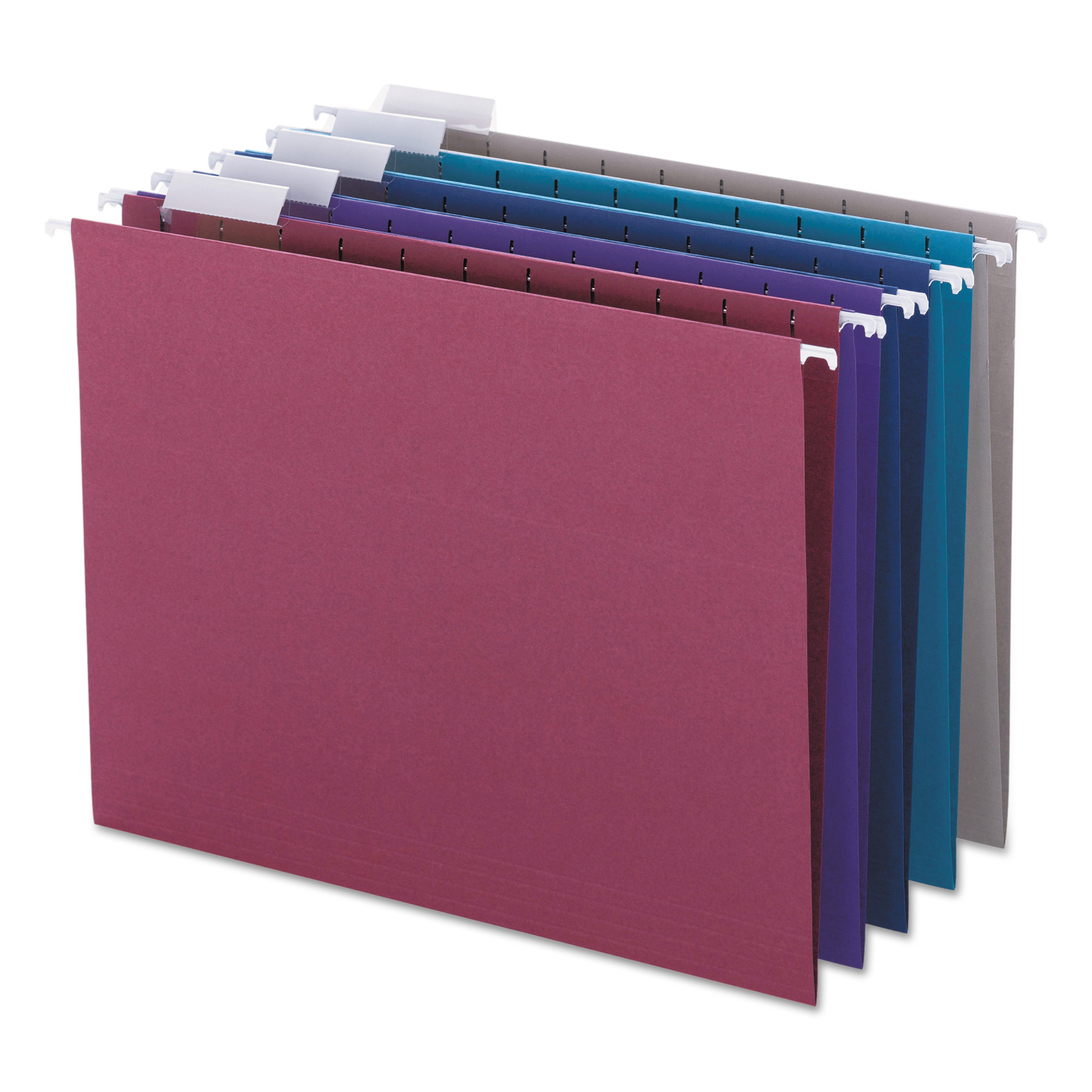 Smead Designer Assortment Hanging Folders, 1/5 Tab, 11 Point Stock, Letter, 25/Box