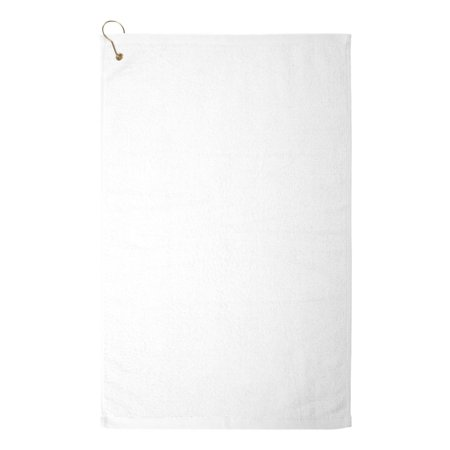 Towels Plus - Hemmed Hand Towel with Corner Grommet and Hook (16