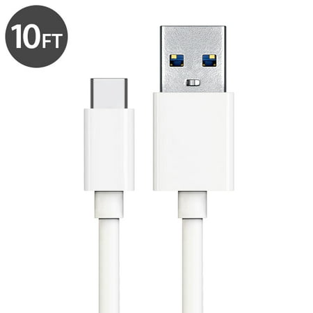 Usb Type C Cable Charger  Freedomtech 10Ft Usb C To Usb A Charger Cable Fast Charger Cord For Samsung Galaxy Note 8  Galaxy S8 S8   Apple New Macbook  Nexus 6P 5X  Google Pixel  Lg G5 G6