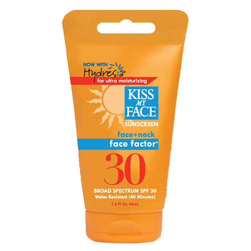 Kiss My Face Factor Face + Neck Spf 30 Sunscreen , With Hydresia - 1.5 Oz
