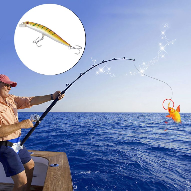 Click here to buy Bait 56PCS Artificial Fishing Lures Bait Minnow Lure Crank Baits Tackle Hook by OUTAD.