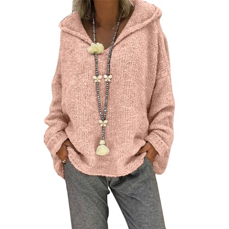 Women's Hoodies Lightweight Plush Slouchy Drape Pullover Long Sleeve Sweater Fleece Jacket Coats,