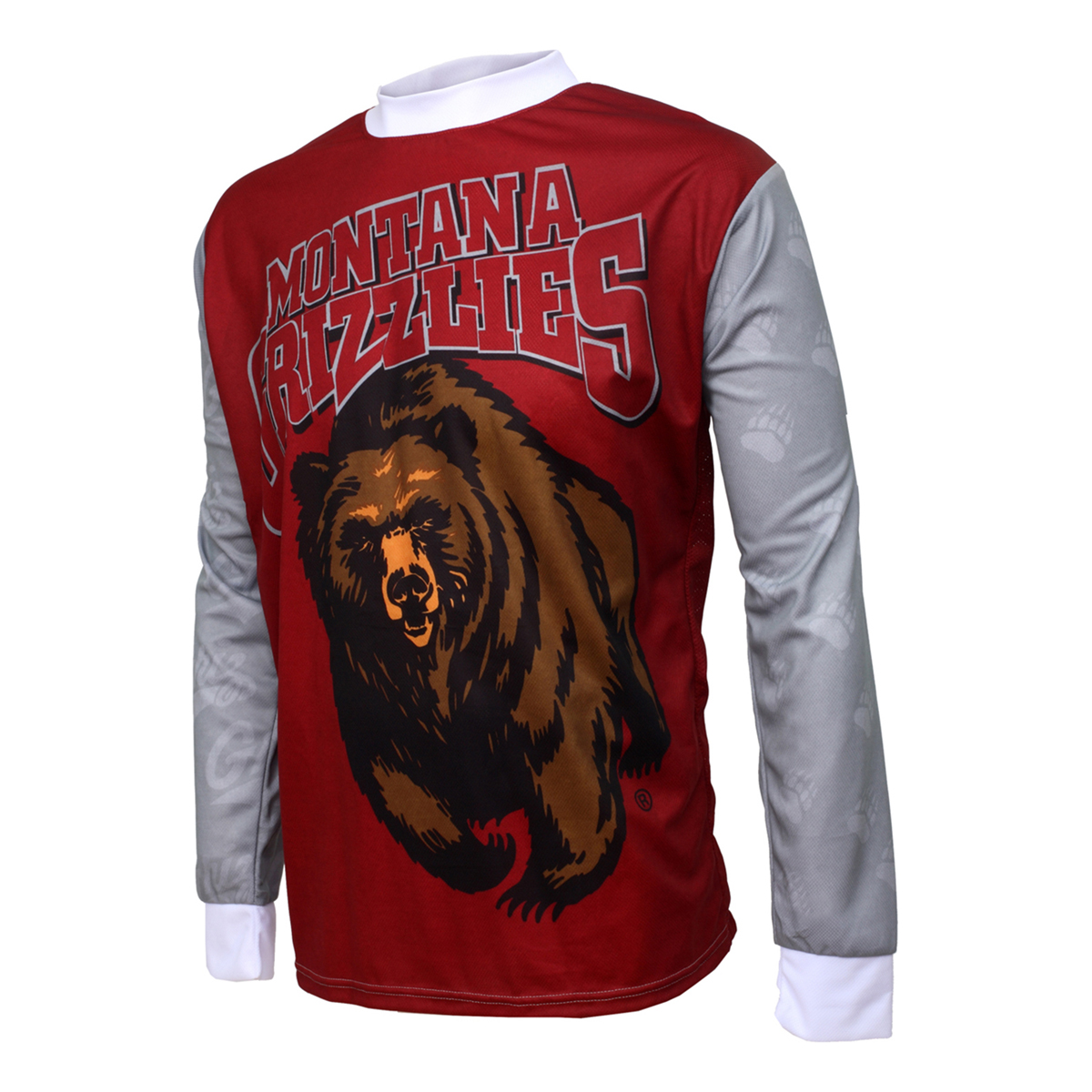 Adrenaline Promotions University of Montana Grizzlies Long Sleeve Mountain Bike Jersey