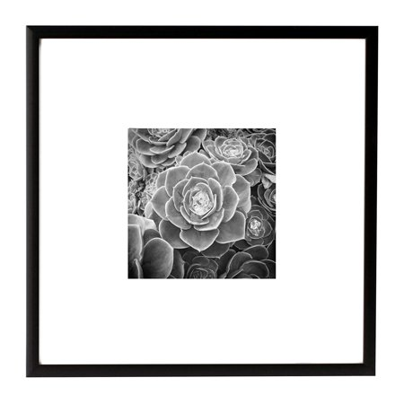 Golden State Art, 8x8 Metal Wall Photo Frame Collection, Aluminum Black Photo Frame with Real Glass ()