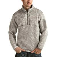 Washington Football Team Antigua Fortune Quarter-Zip Pullover Jacket - Oatmeal