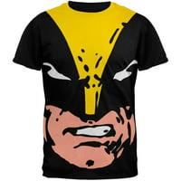 x-men wolverine big face marvel comics superhero adult t-shirt tee