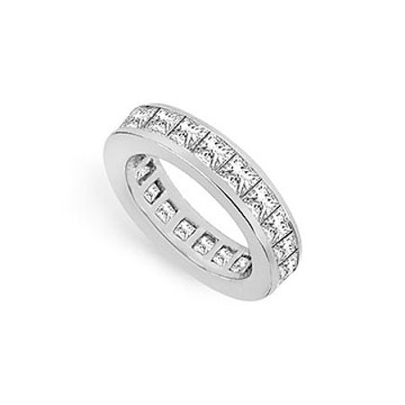 Three and Half Carat Cubic Zirconia Eternity Band in Sterling Silver Third Wedding Anniversary J - image 1 of 2