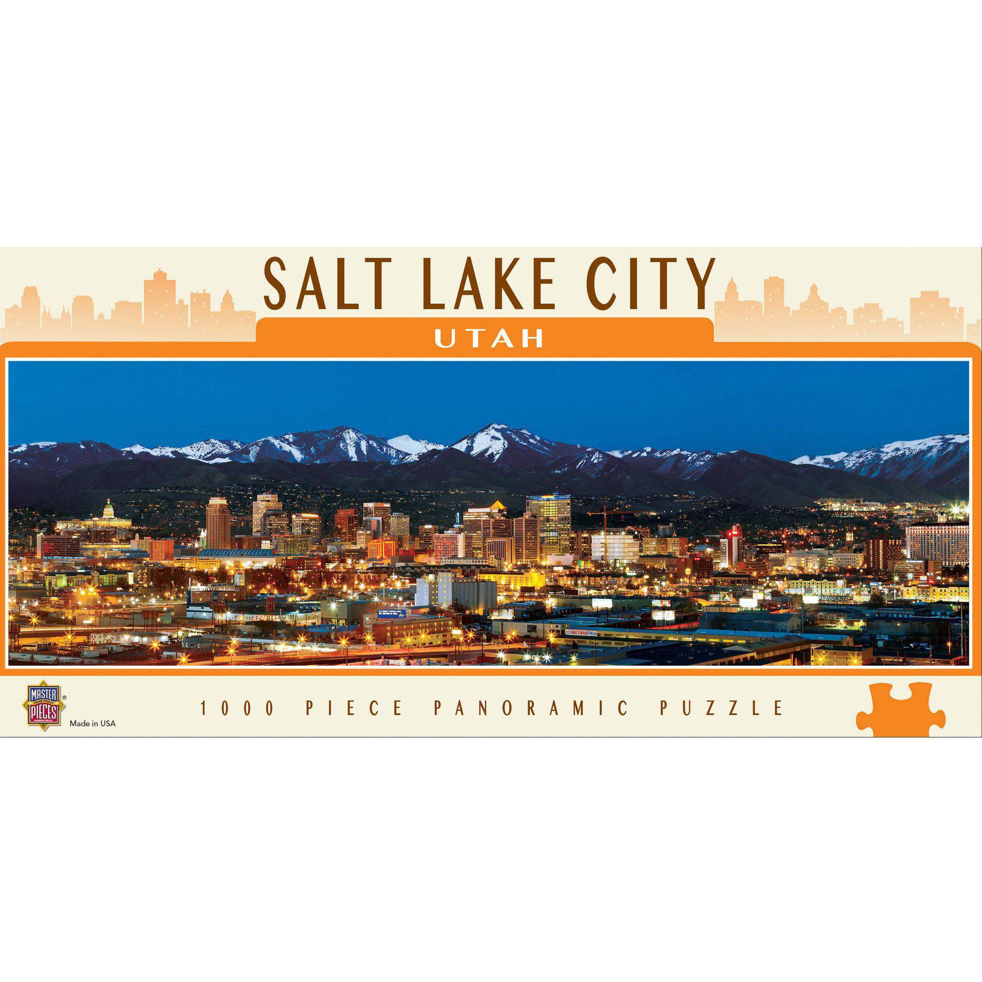 MasterPieces Salt Lake City Panoramic Puzzle, 1000 Pieces