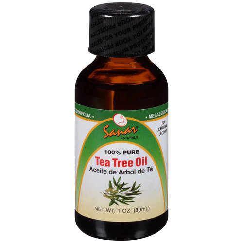 Sanar Naturals Tea Tree Essential Oil,  1 oz -  100% Pure , Antifungal, Antibacterial for Bug Bites, Acne, Skin, Nails, Scalp Dandruff, Great Surface Cleaner